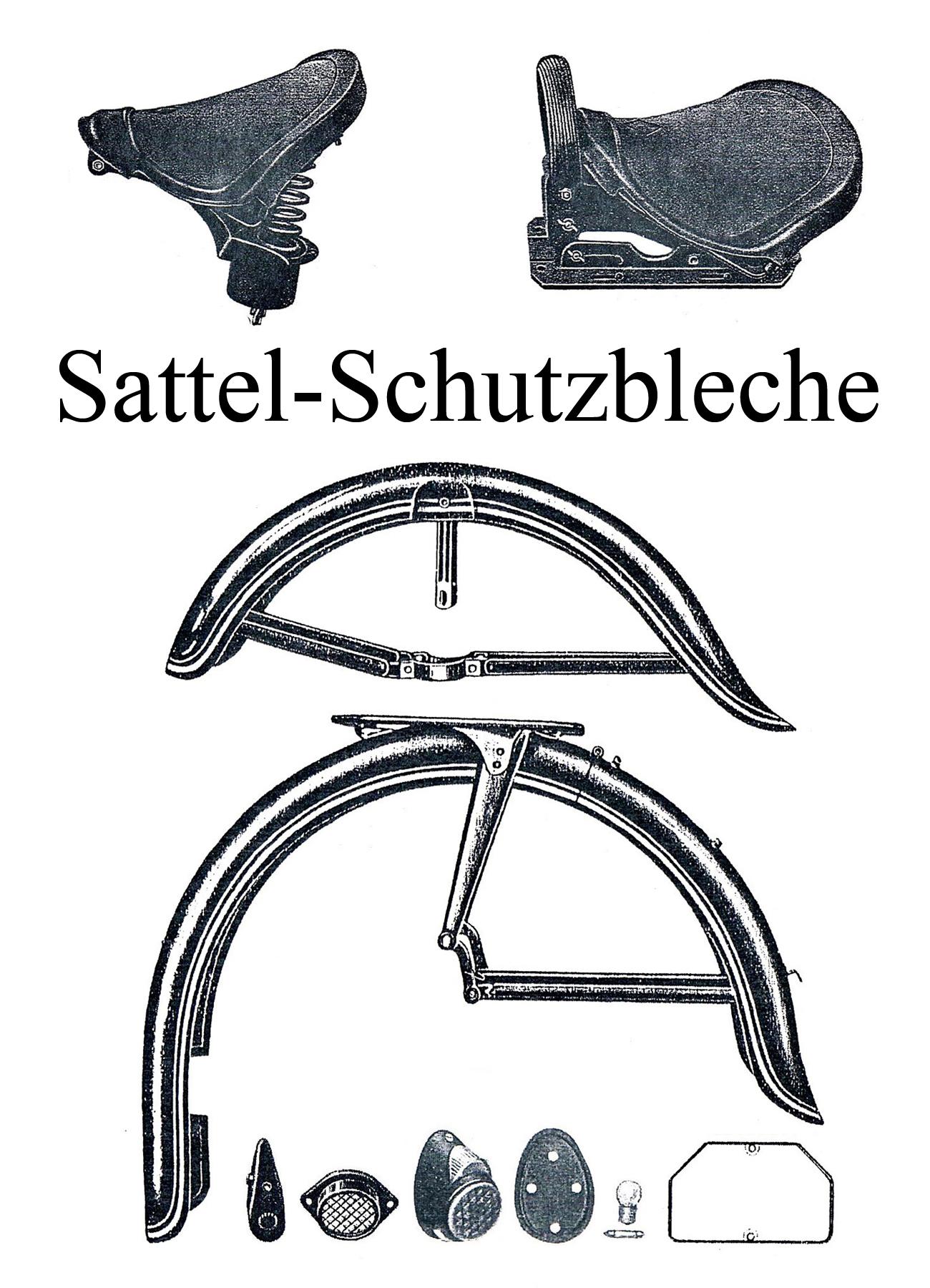 DDR-Motorrad EMW R 35 Ersatzteileliste Fahrersattel Decke Soziusfußrastengummi Schutzblech Rücklicht