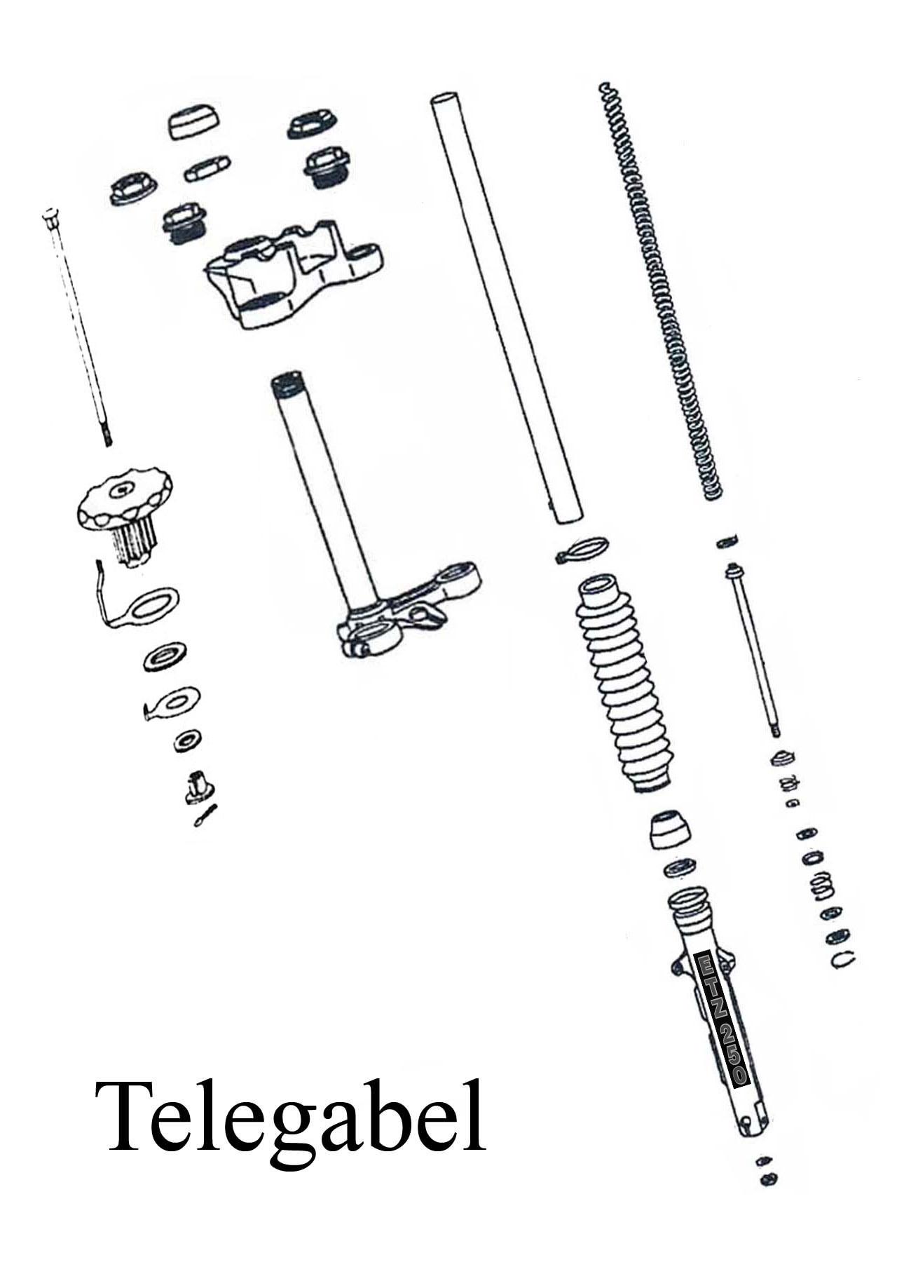 MZ ETZ 250 Ersatzteile Telegabel
