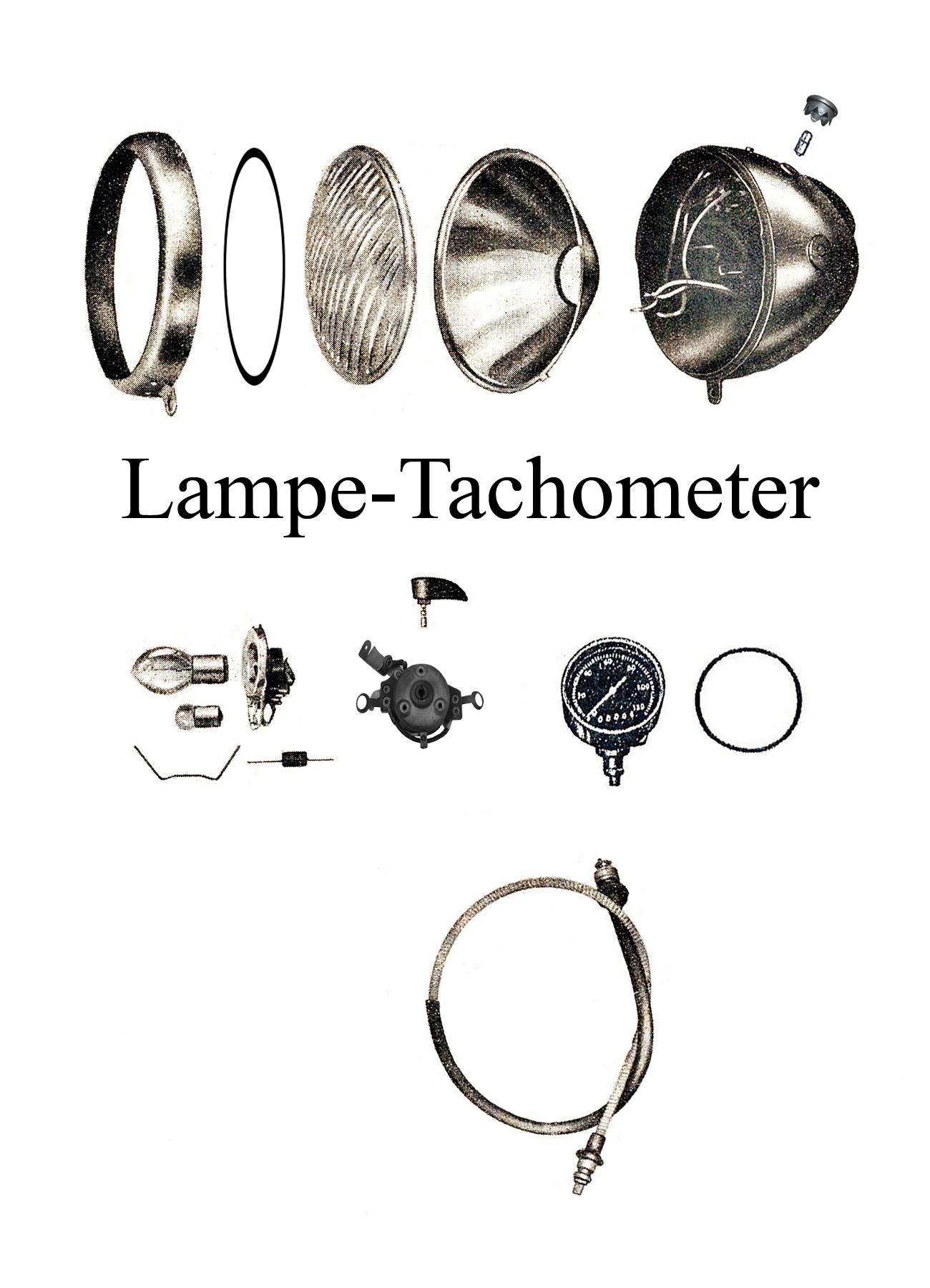 DDR-Motorrad IFA MZ BK 350 Ersatzteileliste Lampe Tachometer Reflektor