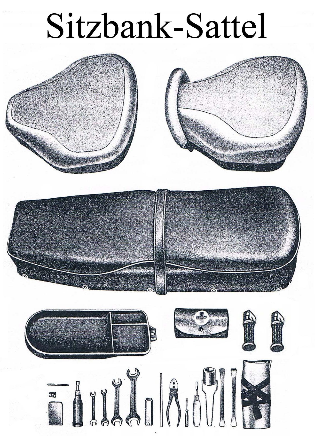 MZ ES 175/2-250/2 Ersatzteileliste Sitzbankbezug Satteldecke Gummi