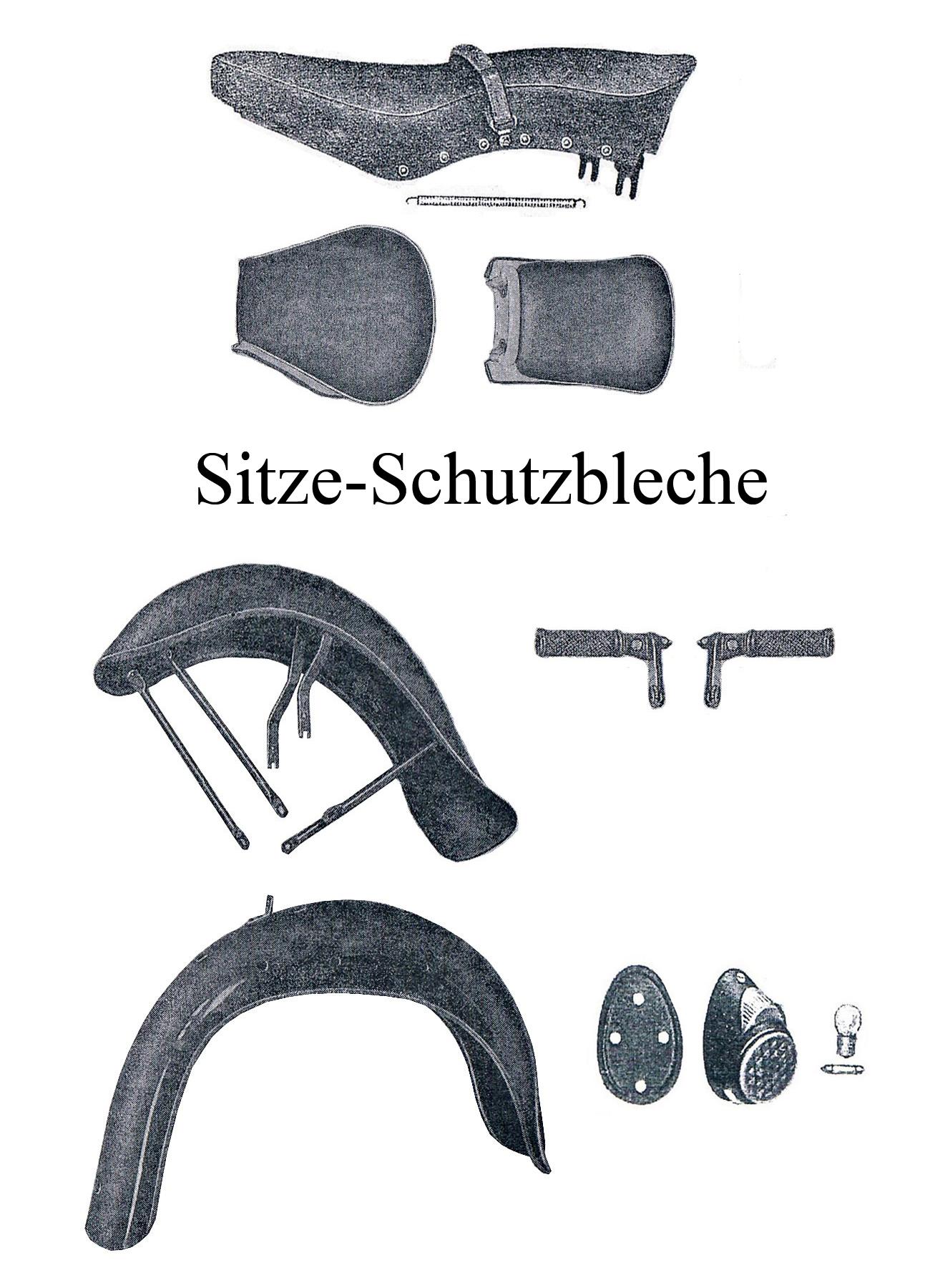 DDR-Motorrad Sport AWO Ersatzteileliste Sitzbank Schutzblech Kotflügel Vorderrad Hinterrad Rücklicht