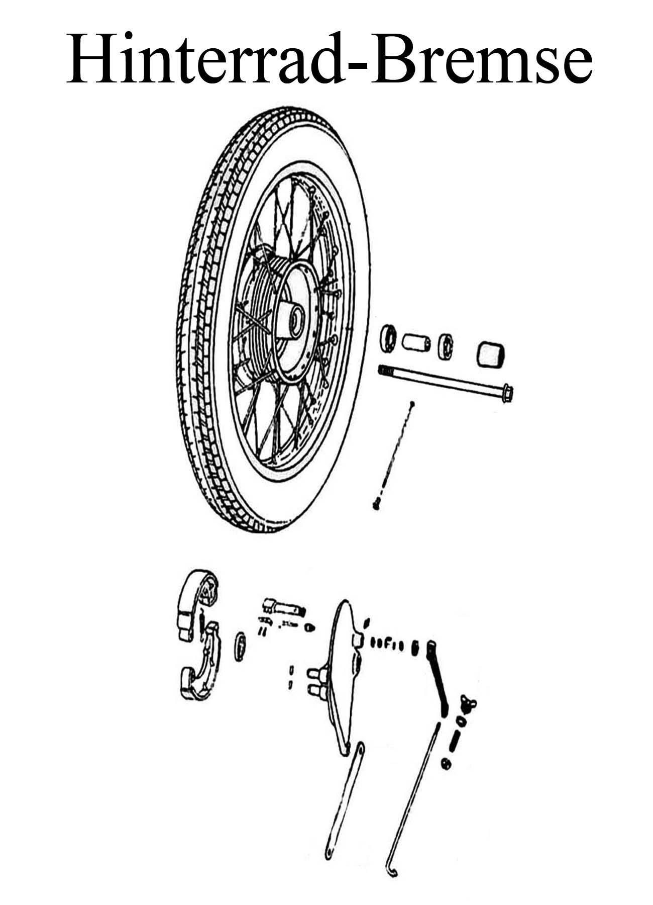DDR-Motorrad MZ ETZ 250 Ersatzteile Hinterrad