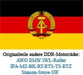 Ersatzteile kaufen für ander DDR-Motorräder AWO EMW IWL MZ Simson Stoye