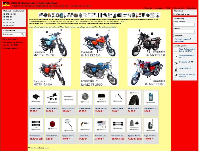 DDR Motorrad Ersatzteileshop für MZ TS und MZ ETZ