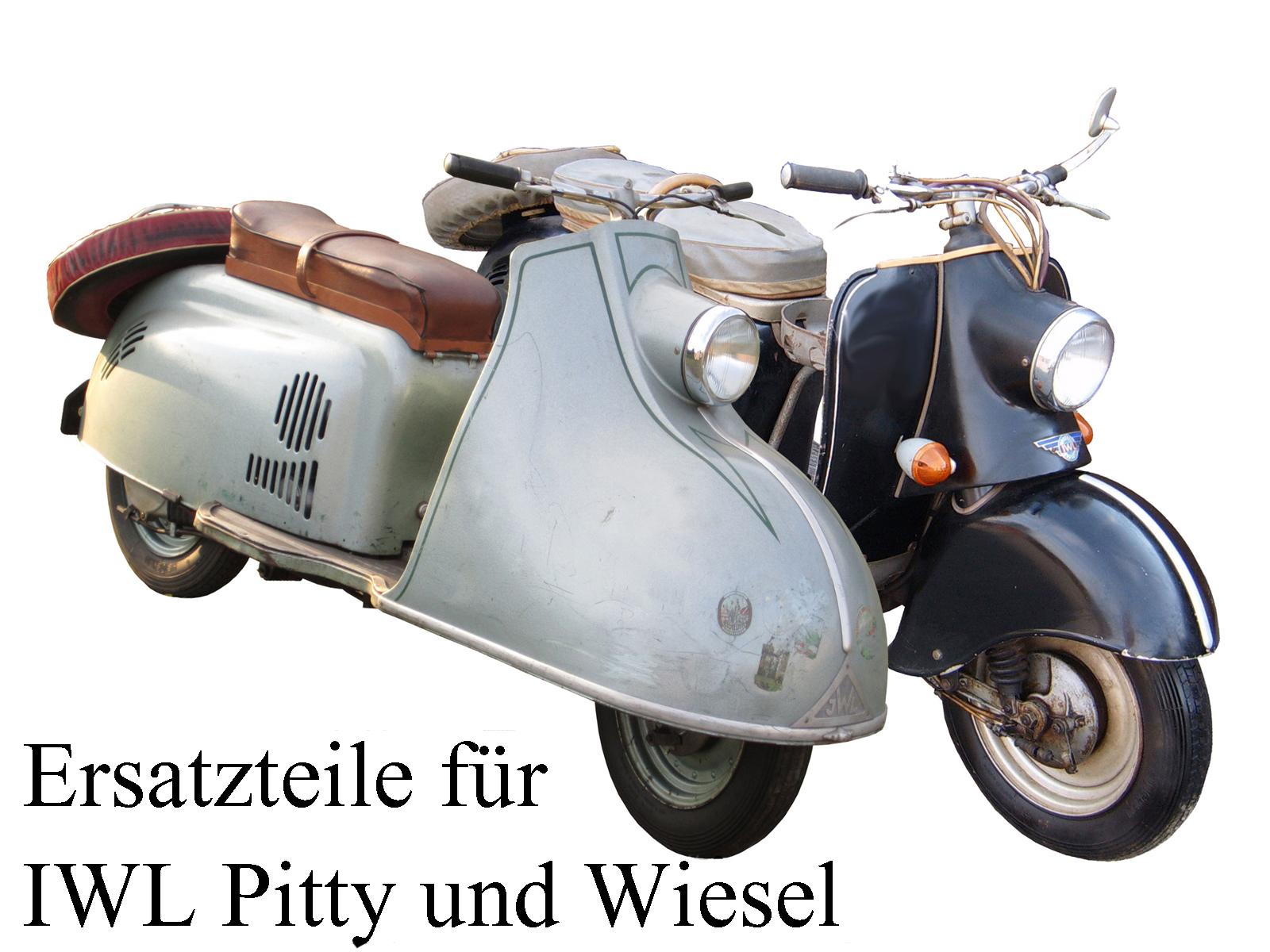 Ersatzteile kaufen für die DDR-Motorroller IWL Pitty und Wiesel SR 56