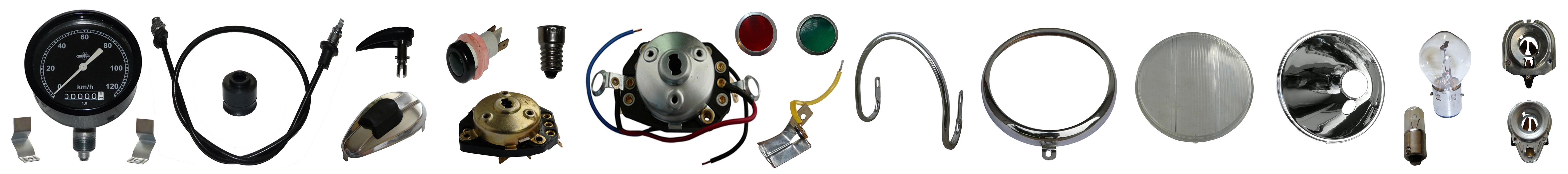 IFA MZ BK 350 Ersatzteile Lampe Tachometer