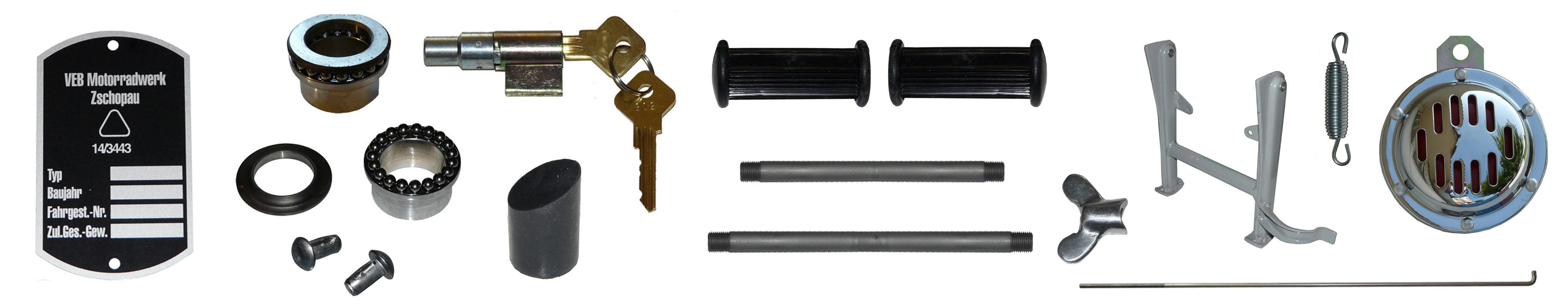IFA MZ BK 350 Ersatzteile Rahmen Anbauteile