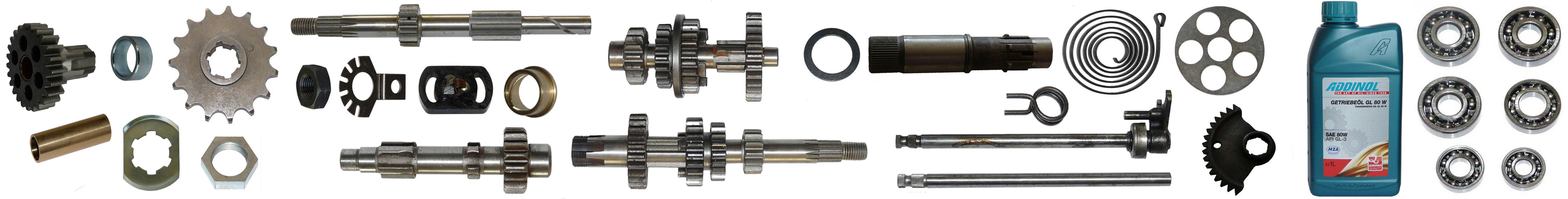 IWL Berliner Roller SR 59 Ersatzteile Motor Getriebe