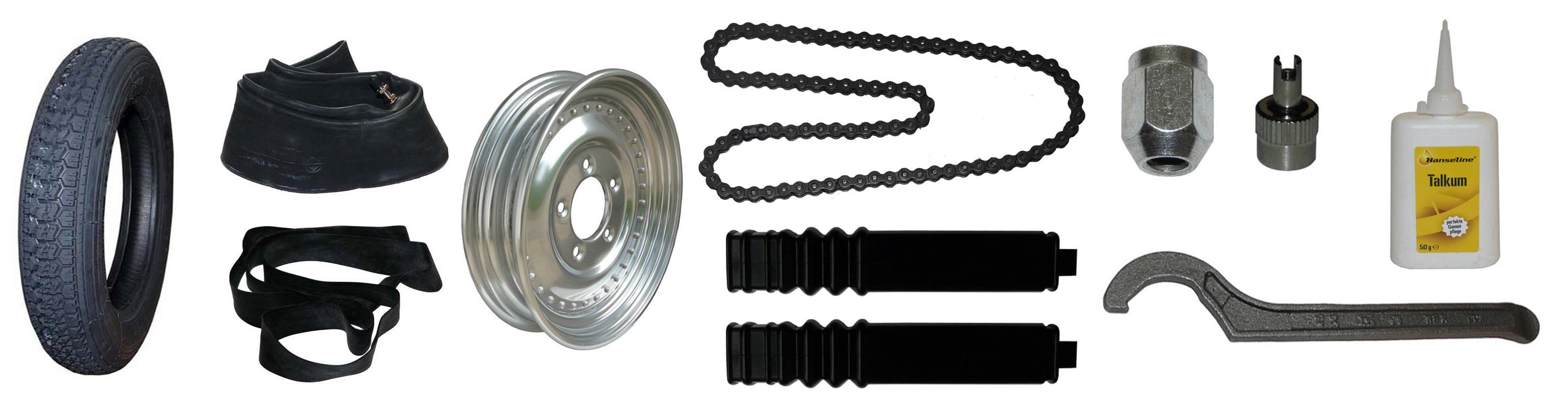 IWL Pitty Wiesel Ersatzteile Räder Reifen