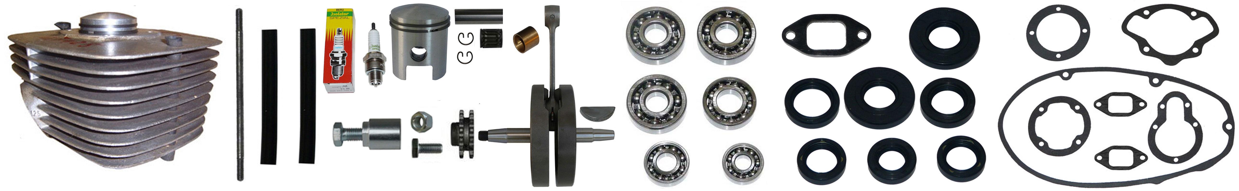 MZ ES 125 150 Ersatzteile Motor Zylinder Kurbelwelle