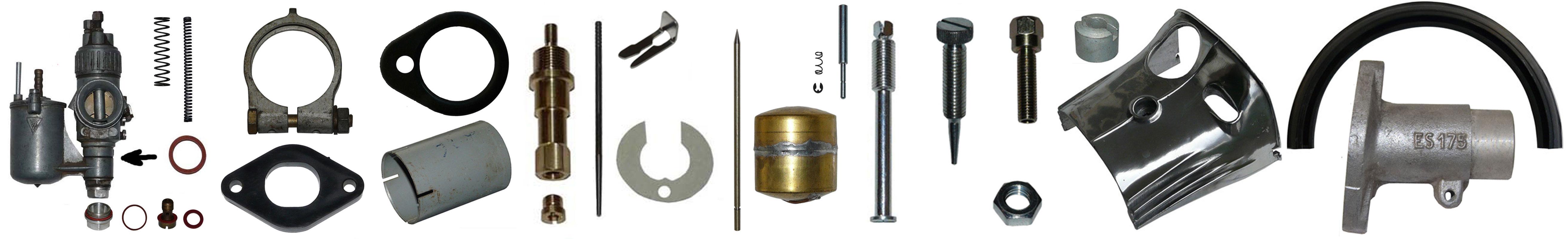 MZ ES 175-0 250-0 Ersatzteile Vergaser Flachschieber