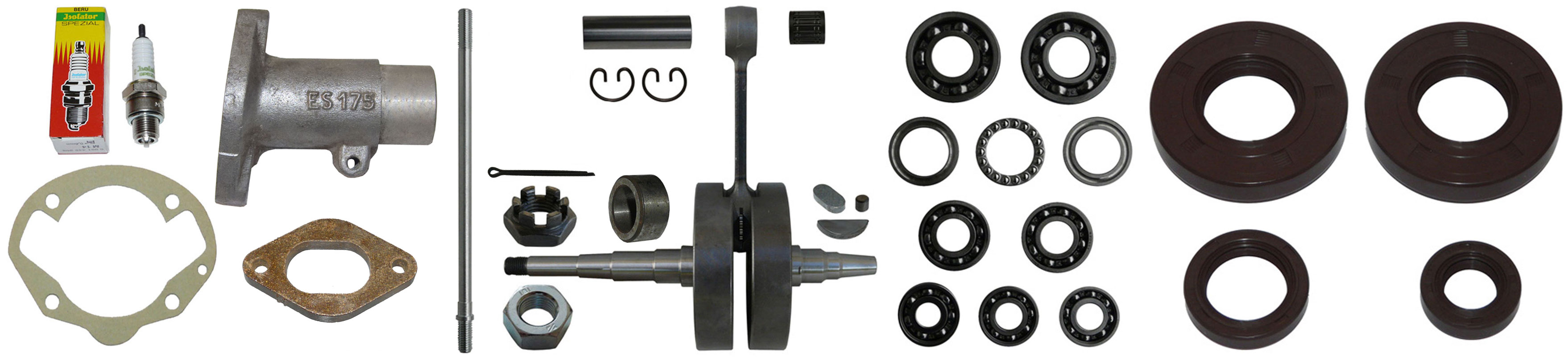 MZ ES 175-250/0-1 Ersatzteile Motor Zylinder Kurbelwelle