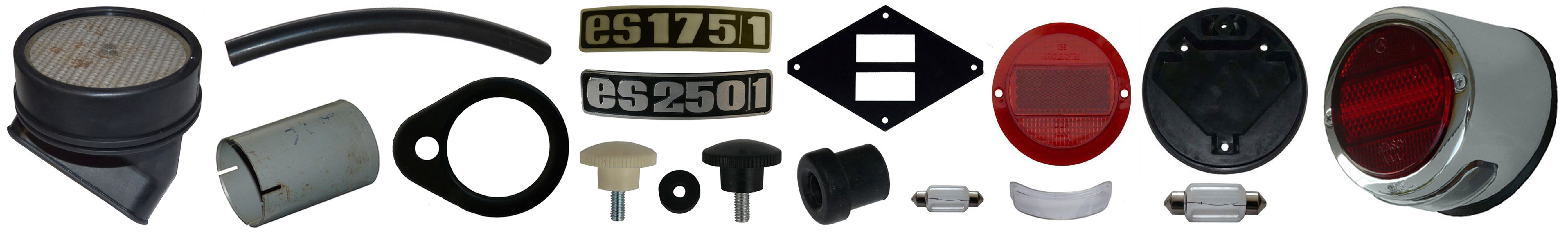 MZ ES 175/1 250/1 Ersatzteile Schutzblech Rücklicht Luftfilter