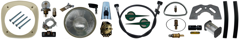 MZ ES 175/2 250/2 Ersatzteile Scheinwerfer Tacho