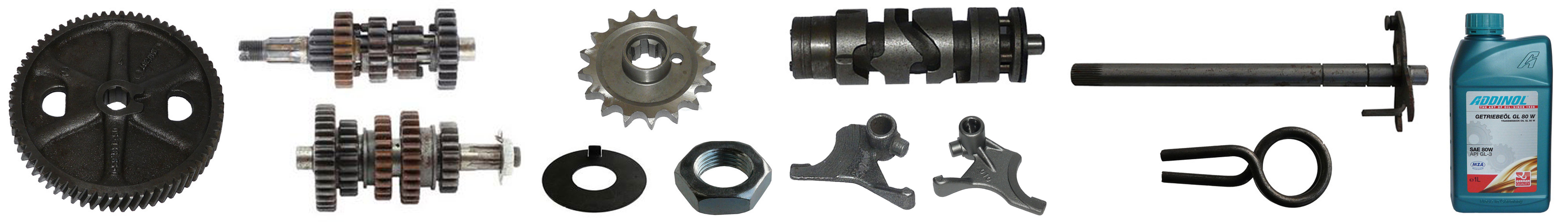 MZ ETZ 250 Ersatzteile Motor Getriebe Schaltung