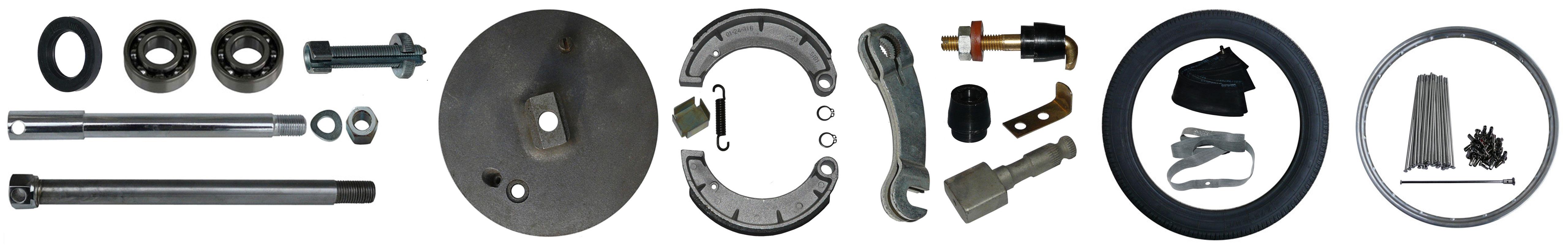 MZ RT 125 Ersatzteile Räder Bremse Vollnabe