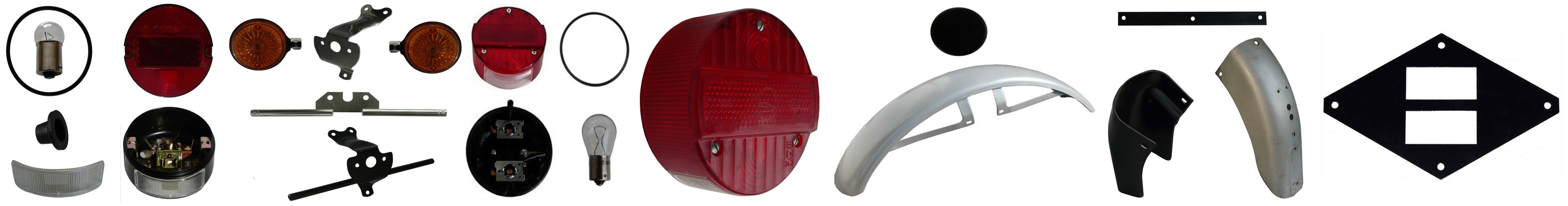 MZ TS 125 MZ TS 150 Ersatzteile Schutzbleche Blinker Rücklicht