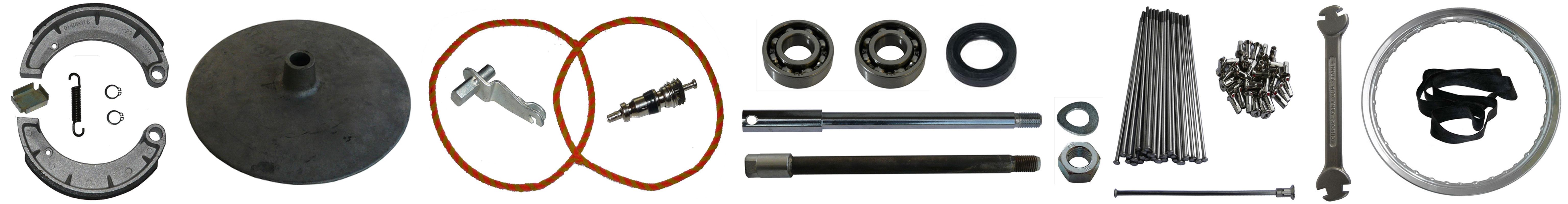 MZ TS 250-0 250-1 Ersatzteile Vorderrad Bremse