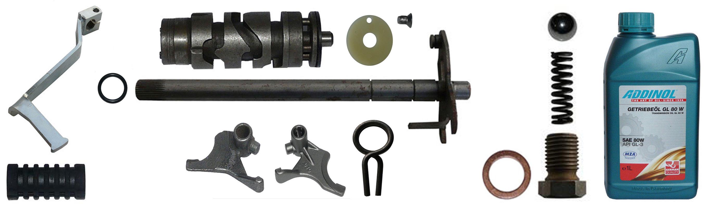 MZ TS 250-1 Ersatzteile 5 Gang Motor Schaltung
