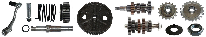 MZ TS 250-1 Ersatzteile 5 Gang Motor Getriebe Kickstarter