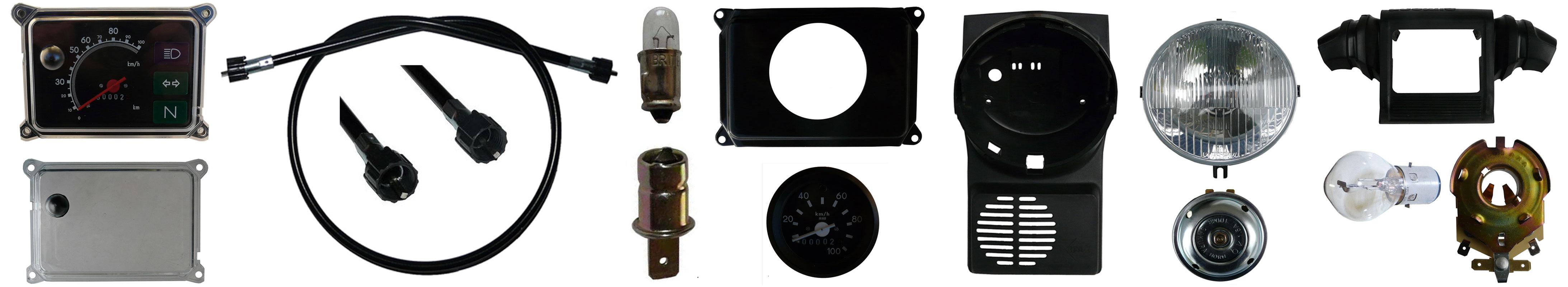 Simson SR50 Ersatzteile Scheinwerfer Tachometer Zündschloß