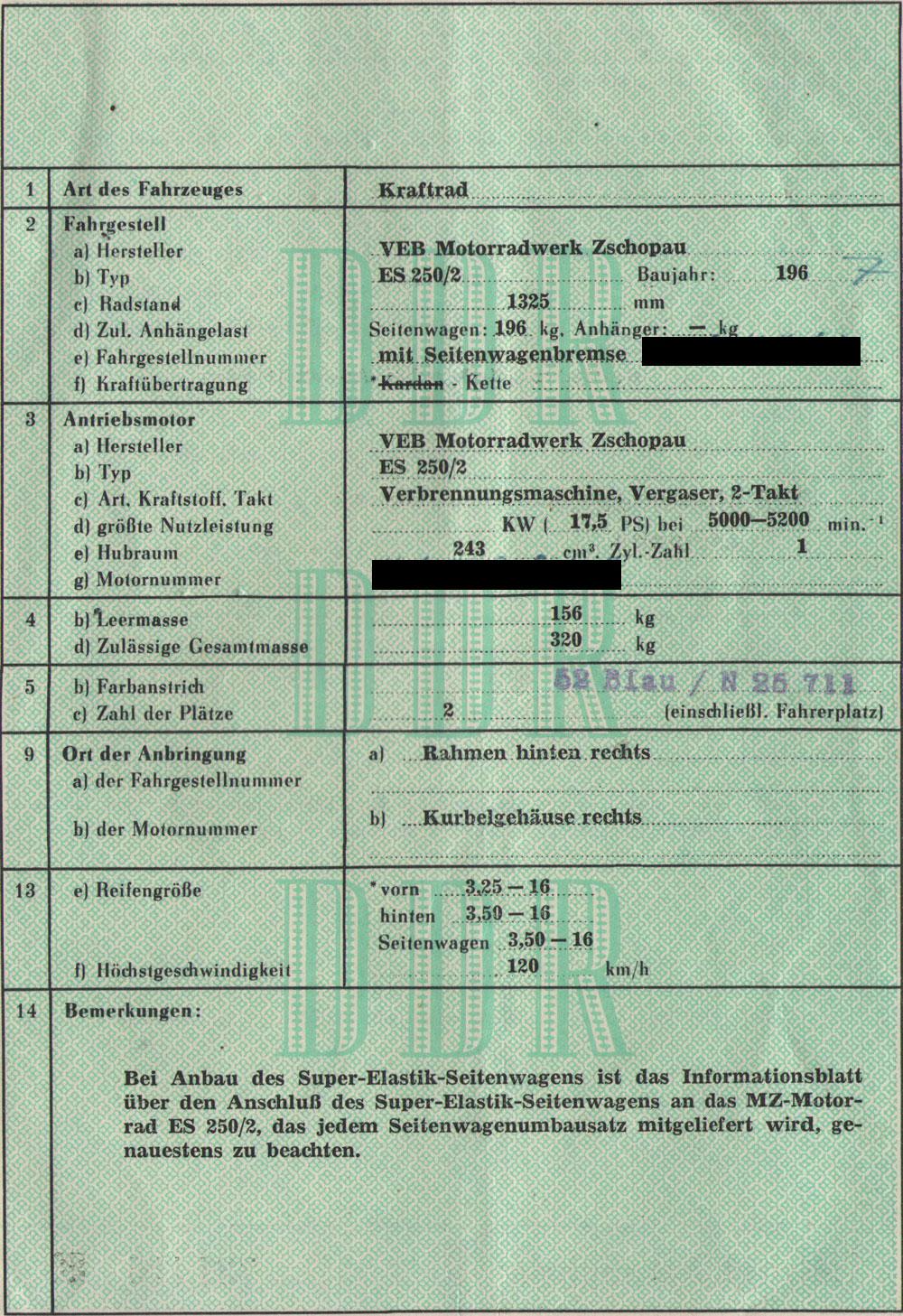 MZ ES 250/2 Bedienungsanleitung, Betriebsanleitung, Ersatzteilliste ...